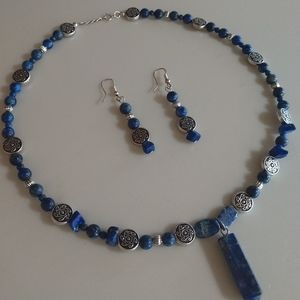 Lapis Lazuli necklace and earrings